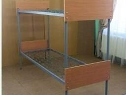 Кровать комбинированная двухъярусная с быльцами ОДСП КП