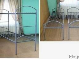 Кровать металлическая 2-ярусная с дугами 190х70