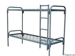 Кровать двухярусная , металлическая