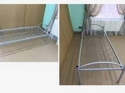 Кровать металлическая одноярусная 190х70, профильная труба