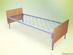 Кровать металлическая одноярусная с быльцами ОДСП