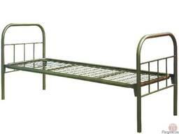 Кровать металлическая,полуторная, с метал.спинками