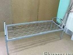 Кровать железная одноярусная, 190*80, мебель для общежитий