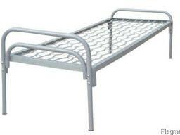 Кровать металлическая одноярусная ЭКО для общежитий и казарм