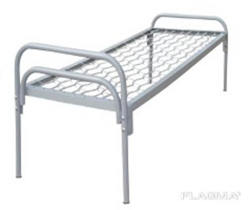 Ліжко одноярусне з металевими спинками 1900*800