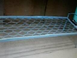 Кровать одноярусная, быльца металлические 190х70