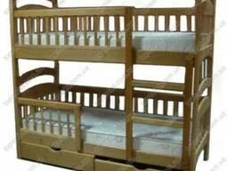 Кровать трансформер с дерева -весь комплект , как на фото!
