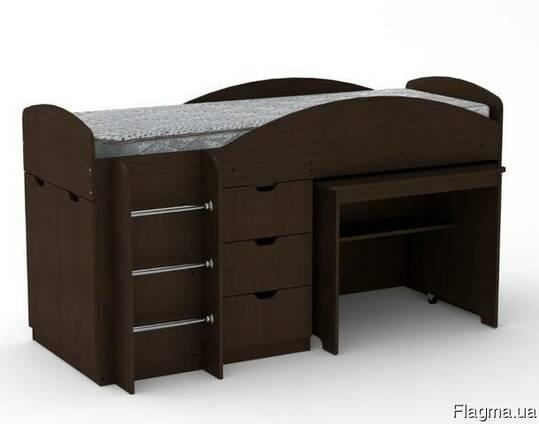 Кровать Универсал со столом и ящиками