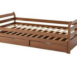 """Кровать в детскую комнату """"Модена"""". Из натурального дерева."""