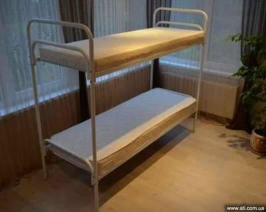Кровати металлические двухъярусные армейские