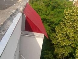 Кровля балкона, Скатная кровля на крайних этажах, Утепление