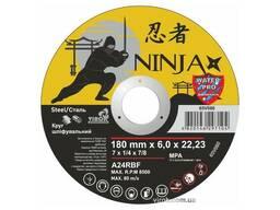 """Круг шліфувальний по металу Ninja ТМ """"Virok"""" тип 27 Ø=180х22. 23 мм t=6 мм"""