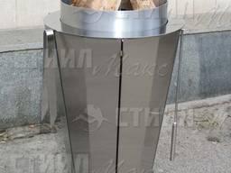 Круглый гриль-мангал на древесных углях - изготовление под заказ