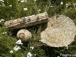 Круглый коврик из аира Сидушка
