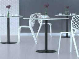 Ножки для стола в кафе UNO, круглые опоры для бара из металла 8мм