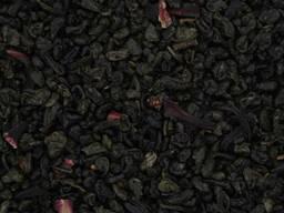 Крупнолистовой зеленый чай с земляникой Земляника со сливкам