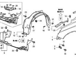 Крыло правое Honda CR-V Крыло переднее правое Хонда CR-V