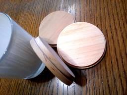 Крышка деревянная на стакан, банку