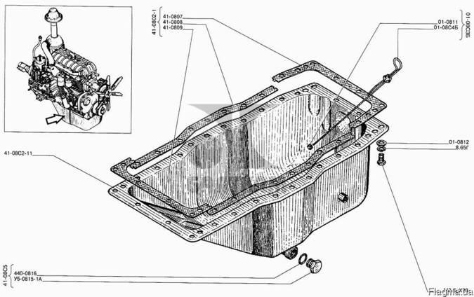 Крышка картера нижняя двигателя А-01М
