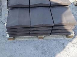 Крышка забора бетонная, парапет 350*390мм. шагрень любой. ..