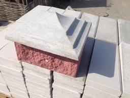 Крышка, накрывка парапет бетонный Пирамида 400х400
