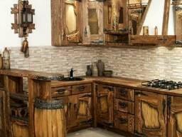 Кухня из массива дерева под старину Код: КГ-2 Под заказ