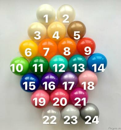 Шарики для бассейна 8см, мячики, кульки