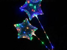 Кульки надувні MK 2075-1 зірка, світло, гірлянда, на. ..