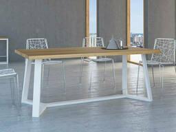 Купити дерев'яний стіл для офісу в стилі ЛОФТ