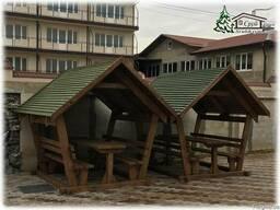 Купить деревянные беседки из бруса в Крыму