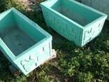 Купить кашпо уличное бетонное большого размера для дачи. - фото 3