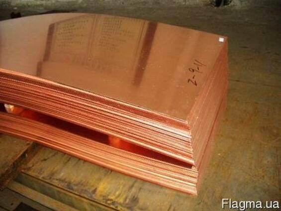 Лист медный 6,5 мм 0,7х1,4м медь