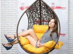 Купити підвісний крісло кокон куля з ротанга в Павлограді