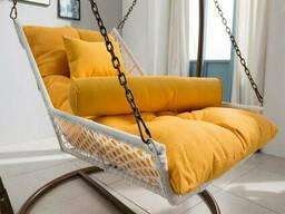 Купити підвісну ліжко в Україні з ротанга на дачу в сад