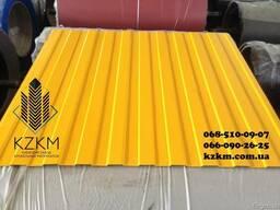 Купить профнастил желтый RAL 1003
