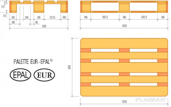 Kуплю Европоддон EPAL с лицензией 1200x800 ОПТ большие партии на экспорт.