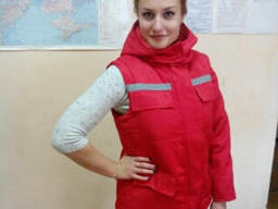 Курта утепленная для скорой помощи,зимняя спецодежда медицин