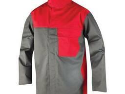 Костюм для сварщика тк. Пробан красно-серый