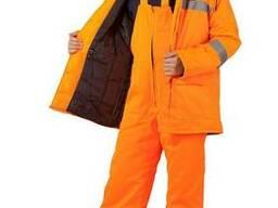 Куртка и полукомбинезон утепленный оранжевый с свп.Пошив