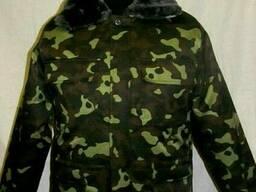 Куртка камуфлированная Лес с меховым воротником