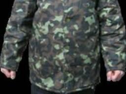 Куртка коммуфляж ватная с мехом