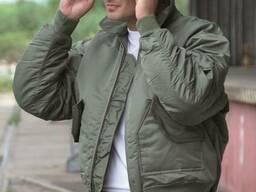 Куртка летная Mil-Tec нейлон олива