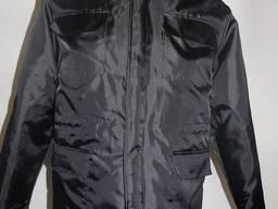 Куртка охранника с меховым воротником