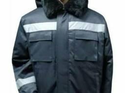 Куртка рабочая теплая с СОП меховый воротник