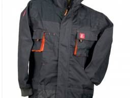 Куртка рабочая URGENT URG A. 80% полиэстер, 20% хлопок Цвет: черно-оранжевый.