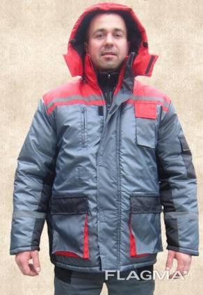 Костюм рабочий утепленный куртка полукомбинезон плащевая ткань