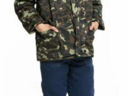Куртка рабочая утепленная камуфлированная