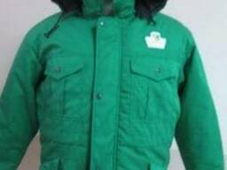 """Куртка рабочая зеленого цвета """"Пчеловод"""", утепленная пошив"""