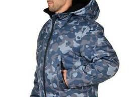 Куртка рабочая зимняя камуфляж Alases размер 52-54, рост 182-188 BLUE