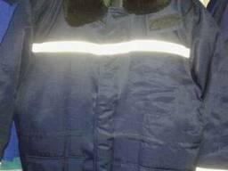 Куртка рабочая зимняя с свп полосами(утепленная спецодежда)